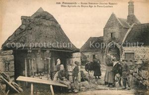 AK / Ansichtskarte Penmarch Ferme Bretonne Dime Agricole du Moyen Age de Portz Lambert Penmarch
