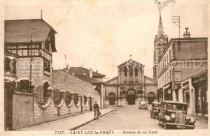 AK / Ansichtskarte Saint Leu la Foret Avenue de la Gare Saint Leu la Foret