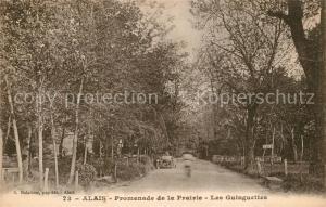 AK / Ansichtskarte Alais Promenade de la Prairie Les Guinguettea Alais