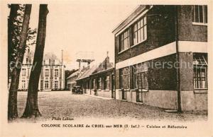 AK / Ansichtskarte Criel sur Mer Colonie Scolaire Cuisine et Refectoire Criel sur Mer