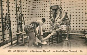AK / Ansichtskarte Aix les Bains Etablissement Thermal La Douche Massage Aix les Bains