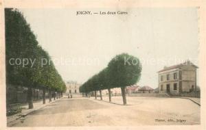 AK / Ansichtskarte Joigny_Yonne Les deux gares Bahnhoefe Joigny Yonne