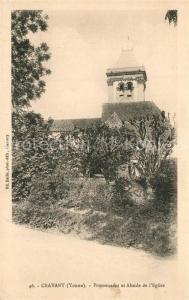 AK / Ansichtskarte Cravant_Yonne Promenades et Abside de l Eglise Cravant Yonne
