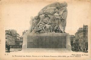 AK / Ansichtskarte Le_Havre Monument aux Soldats Havrais et a la Victoire Francaise Le_Havre