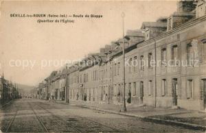 AK / Ansichtskarte Deville les Rouen Route de Dieppe Quartier de l Eglise Deville les Rouen