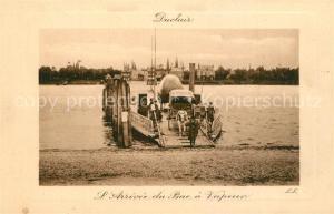 AK / Ansichtskarte Duclair Arrivee du bac a vapeur Faehre Duclair