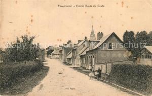 AK / Ansichtskarte Foucarmont Entree Route du Caule Foucarmont