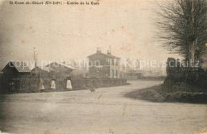 AK / Ansichtskarte Saint Ouen du Breuil Entree de la gare Saint Ouen du Breuil