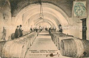 AK / Ansichtskarte Cognac Chateau Francois Ier ancienne Salle des Gardes Cognac