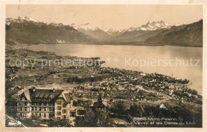 AK / Ansichtskarte Mont Pelerin_Le Vue sur Vevey les Dents du Midi Mont Pelerin_Le