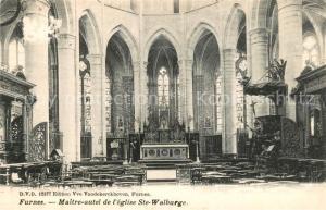 AK / Ansichtskarte Furnes Maitre autel de eglise Sainte Walburge Furnes