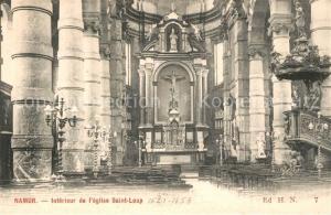AK / Ansichtskarte Namur_sur_Meuse Eglise Saint Loup Innenraum Namur_sur_Meuse