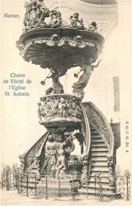 AK / Ansichtskarte Namur_sur_Meuse Chaire de Verite de Eglise Saint Aubain Namur_sur_Meuse