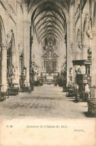 AK / Ansichtskarte Anvers_Antwerpen Eglise Saint Paul Interieur Anvers Antwerpen