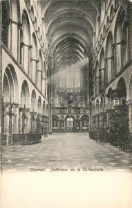 AK / Ansichtskarte Tournai_Hainaut Cathedrale Interieur Tournai Hainaut