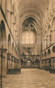 AK / Ansichtskarte Tournai_Hainaut Nef principale de la Cathedrale Tournai Hainaut