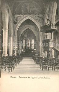 AK / Ansichtskarte Furnes Eglise Saint Nicolas  Interieur Furnes