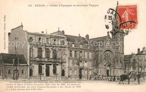 AK / Ansichtskarte Sedan_Ardennes Caisse Epargne nouveau Temple Sedan Ardennes
