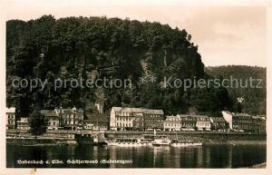 AK / Ansichtskarte Bodenbach Tetschen_Boehmen Schaeferwand Panorama Bodenbach Tetschen Boehmen