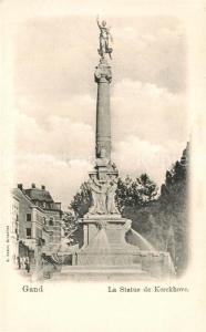 AK / Ansichtskarte Gand_Belgien Statue de Kerckhove Gand Belgien
