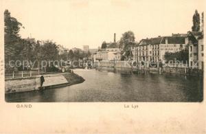 AK / Ansichtskarte Gand_Belgien La Lys Gand Belgien