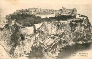 AK / Ansichtskarte Monaco Fliegeraufnahme La Ville Le Rocher Monaco