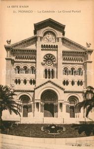 AK / Ansichtskarte Monaco Catedrale Grand Portail Monaco