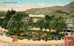 AK / Ansichtskarte Monte Carlo Les Jardins Place du Casino et Riviera Palace Monte Carlo