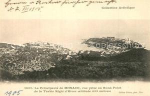 AK / Ansichtskarte Monaco Vue prise au Rond Point Monaco