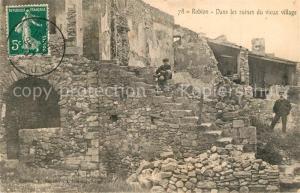 AK / Ansichtskarte Robion Ruines du vieux village Robion