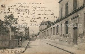 AK / Ansichtskarte Les_Lilas Rue des Ecoles Les_Lilas