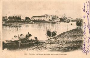 AK / Ansichtskarte Haipong_Tonkin Entree du Song Tom Bac