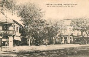 AK / Ansichtskarte Cochinchine_Vietnam Entree de la Rue Catinat Cochinchine Vietnam