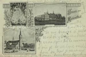 AK / Ansichtskarte Marienthal_Elsass Wallfahrtskirche Priesterhaus Muttergottesbild Marienthal Elsass