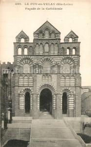 AK / Ansichtskarte Le_Puy en Velay Facade de la Cathedrale Le_Puy en Velay