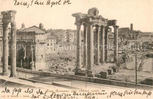 AK / Ansichtskarte Roma_Rom Foro Romano con ultimi scavi Roma_Rom