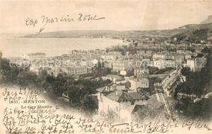 AK / Ansichtskarte Menton_Alpes_Maritimes Cap Martin Menton_Alpes_Maritimes