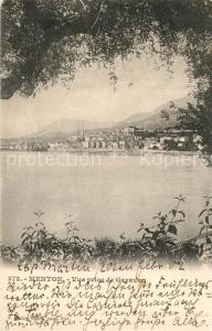 AK / Ansichtskarte Menton_Alpes_Maritimes Vue prise de Garavan Menton_Alpes_Maritimes