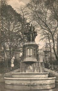 AK / Ansichtskarte Bruxelles_Bruessel Statue des Comtes d Egmont Bruxelles_Bruessel