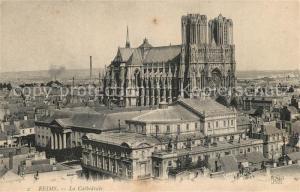 AK / Ansichtskarte Reims la Brulee Cathedrale Reims la Brulee