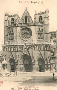 AK / Ansichtskarte Lyon_France Cathedrale Saint Jean Lyon France