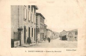 AK / Ansichtskarte Saint Sorlin Place du Marche Saint Sorlin