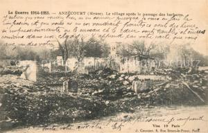 AK / Ansichtskarte Angecourt Village apres le passage des barbares  Angecourt