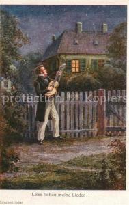 AK / Ansichtskarte Schubert_Franz Leise flehen meine Lieder