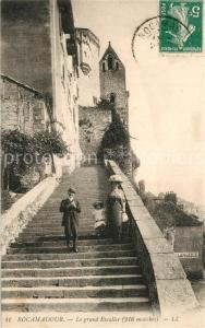 AK / Ansichtskarte Rocamadour Grand Escalier Rocamadour