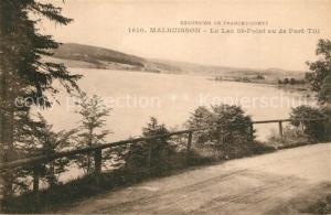 AK / Ansichtskarte Malbuisson_Doubs Lac Saint Point vu de Port Titl Malbuisson Doubs