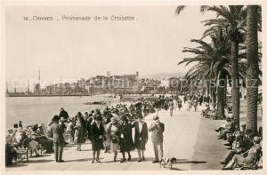 AK / Ansichtskarte Cannes_Alpes Maritimes Promenade de la Croisette Cannes Alpes Maritimes