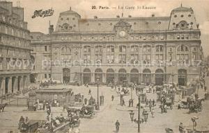 AK / Ansichtskarte Paris Gare Saint Lazare Paris