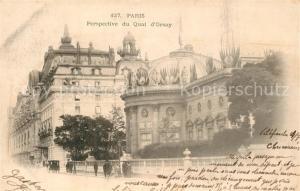AK / Ansichtskarte Paris Perspective du Quai d Orsay Paris