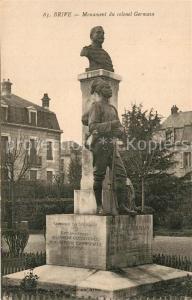 AK / Ansichtskarte Brive_Correze Monument du colonel Germain Brive Correze